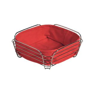 Корзина для хлеба со съемной подкладкой KESPER 25 х 25 х 10 см, красный