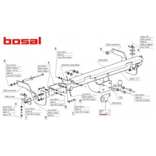 Фаркоп Citroen Jumper3/Fiat Ducato4/Peugeot Boxer3 2006- 2634-F Bosal