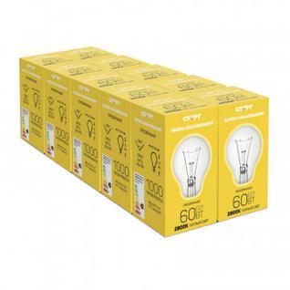 Электрическая лампа СТАРТ шарик/прозрачная 60W E27 10шт