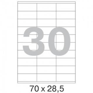 Этикетки самоклеящиеся Promega label 70х28,5 мм / 30 шт. на листе А4 (100л.