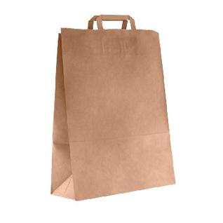 Пакет подарочный Крафт 350х150х450мм ПЛОСКИМИ ручками арт.108-036