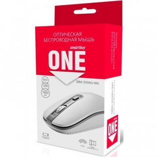 Мышь компьютерная Smartbuy ONE 359G-K бело-серая (SBM-359AG-WG)