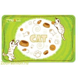 """Коврик под миску """"Cat"""" (43см)"""