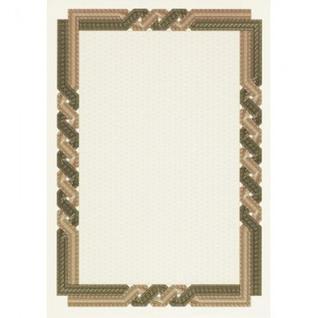Сертификат-бумага DC-OSD4059 коричневая кручен рамка (А4,115г,уп.25л.)