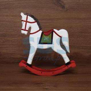 Neon-Night Деревянная фигурка «Игрушечный пони белый» 25х5,5х26,5 см