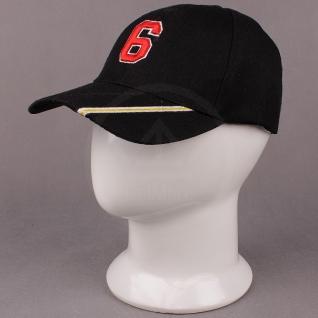 Бейсболка Ультрамарин, цвет черный, размер 52-54