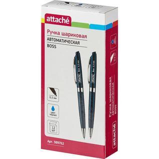 Ручка шариковая Attache Boss,синий корпус,цвет чернил-синий