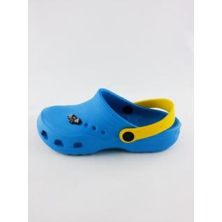 610-01М кроксы голубой/желтый. дюна 27-34 (30) Дюна