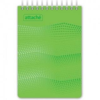 Блокнот WAVES зеленый А6 спираль 50л.пласт.105150