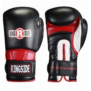 Ringside Перчатки тренировочные RINGSIDE HOOK&LOOP RPEN черные, 16 унций