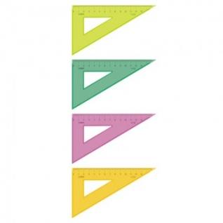 Линейка Треугольник 13 см угол 30 градусов NEON Cristal цвет ассортиТК-33
