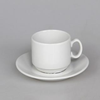 Кофейная пара Мокко белая фарфор, чашка 100мл блюдце d-10см (6С1627Ф34)
