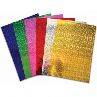 Бумага для творчества цветная самокл.голографическая,6л.6цв.,А4,230-51745
