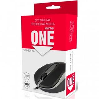 Мышь компьютерная Smartbuy ONE 329 черно-серая (SBM-329-KG)