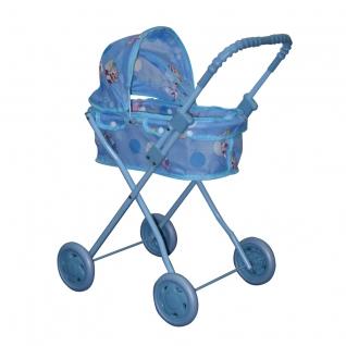 Классическая коляска-люлька для кукол, голубая 1 TOY
