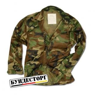 Куртка полевая в стиле BDU, камуфляж лесной