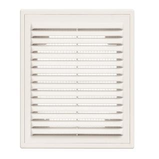 Решетка вентиляционная вытяжная 150*200 с рамкой белая серия ВР Виенто