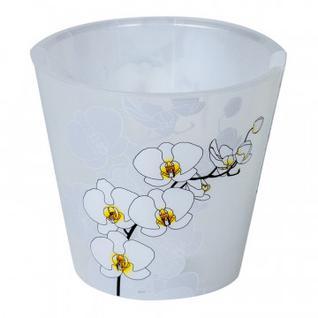 Горшок для цветов Фиджи Орхид Деко D 160 мм/1,6 л белая орхидеяING6196БЛ