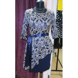 Платье с баской ML 900