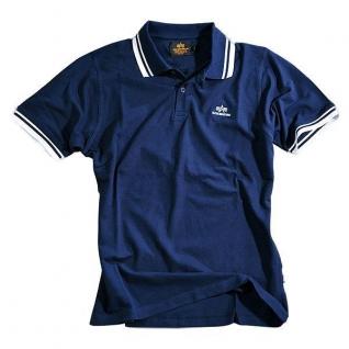 Alpha Industries Рубашка поло Alpha Industries, цвет сине-белый
