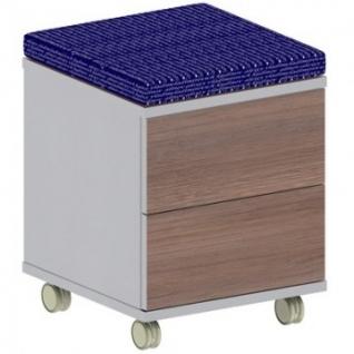 Мебель Easy B Тумба моб.с мягк.элем.1280 т.дуб/сер.(470) 2ящ.
