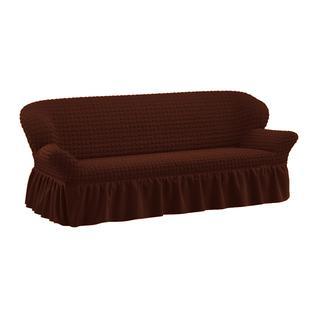 Чехол для трехместного дивана ПМ: Ми Текстиль Чехол на трехместный диван жатка
