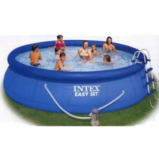 Надувной бассейн, круглый, 457 x 91 см Intex
