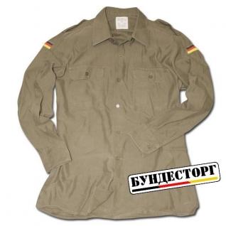 Рубашка полевая Бундесвера, цвет оливковый, б/у