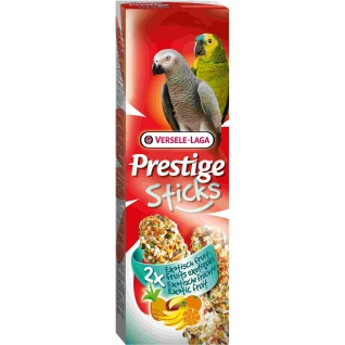VERSELE-LAGA VERSELE-LAGA палочки для крупных попугаев Prestige с экзотическими фруктами 2х70 г