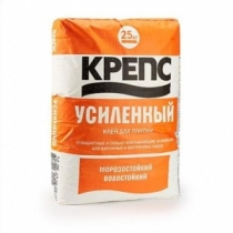 Клей для плитки Крепс усиленный /25,0 кг/ (48 шт на поддоне)
