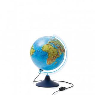 Глобус интерактивный физико-политический с подсв.,рельеф.,250мм,INT12500286