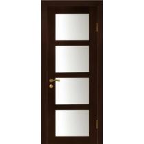 Дверное полотно МариаМ ЭЛИТ Квартет шпонированная покрытие ПУ лак (4 широких стекла) 600-900 мм
