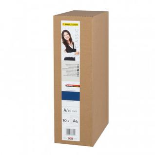 Обложки для переплета картонные OPUS C-BIND AA твердые 10мм синие 10шт/уп.