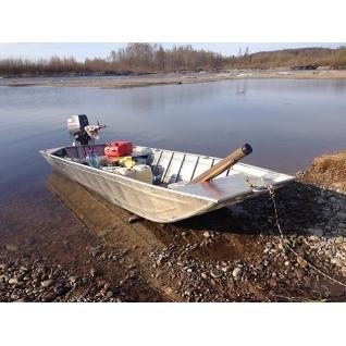 Алюминиевая лодка плоскодонка