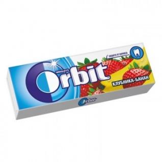 Жевательная резинка Orbit Клубника-банан мультипак, 10шт, 136г