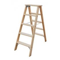 Двусторонняя стремянка со ступенями, деревянная, 2х6 ступеней