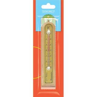 Термометр комнатный 3,9х18,8см., светлое дерево (466106)
