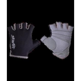 Перчатки для фитнеса Starfit Su-127, черный/серый размер XS
