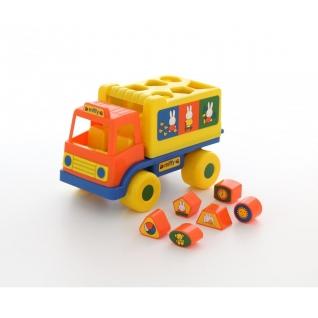 """Логический грузовичок """"Миффи"""" с 6 кубиками №1 Полесье"""
