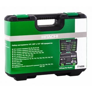 Набор инструмента Hitachi 1/4'', 3/8'' и 1/2'' 100 предмет 774006