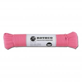 Rothco Паракорд 550 lb 100 фт. полиэстер розового цвета