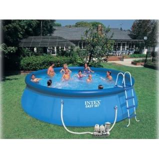 Надувной бассейн с насосом-фильтром и аксессуарами Easy Set Intex