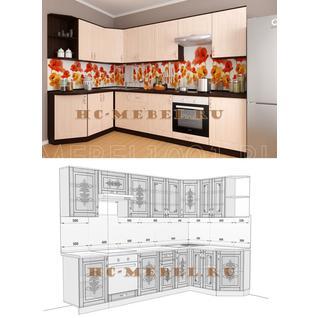 Кухня БЕЛАРУСЬ-7.5 модульная угловая, правая, левая