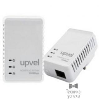 Upvel UPVEL UA-251PK Комплект из 2-х PowerLine адаптеров 500 Мбит/с, 1 порт 10/100 Мбит/с