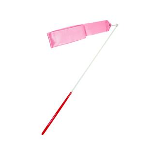 Лента для художественной гимнастики Amely Agr-201 6м, с палочкой 56 см, розовый