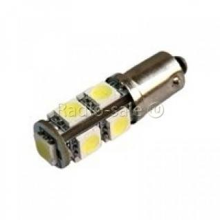 Автомобильная светодиодная лампа BA9S, 9pcs smd 5050 Белая