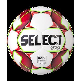 Мяч футзальный Select Samba Ims № 4 белый/красный/зеленый (4)