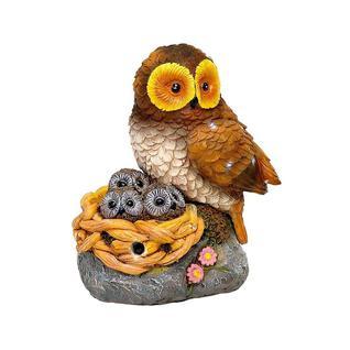 Фигурка садовая сова с гнездом Verdemax