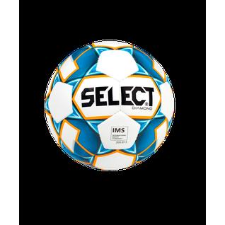 Мяч футбольный Select Diamond Ims №5, белый/синий/оранжевый (5)