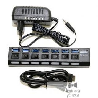 5bites 5bites HB37-303PBK Концентратор 7*USB3.0 / БП 5В-2А / 1.2M / BLACK